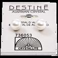Destine White Pearl Earrings 8MM