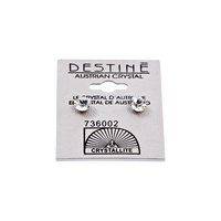 Destine Clear Diamond Cut Earrings 6mm