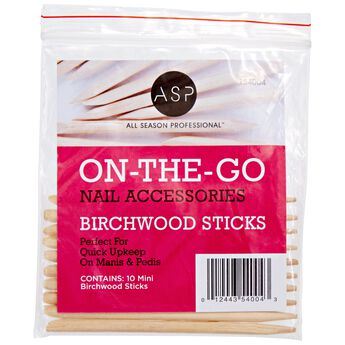 Mini Birchwood Manicure Sticks