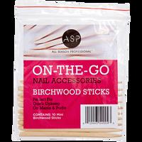 Mini Birchwood Manicure Sticks