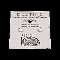 Destine Clear Framed Flatback Earrings