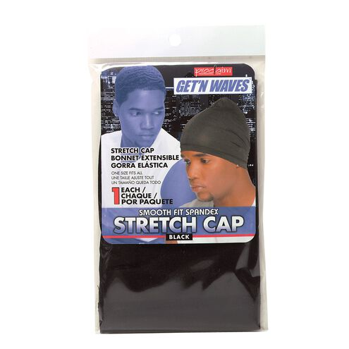 Black Smooth Fit Spandex Stretch Cap