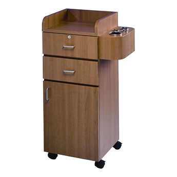 Mobile Styling Station Cabinet Wild Cherry