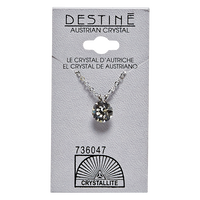 Destine Crystal Diamond Cut 8mm Necklace