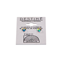 Destine Vitrail Medium Cube Earrings