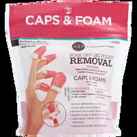 Soak Off Gel Polish Caps & Foam Pads