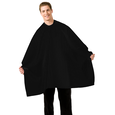 Seersucker Barber Cape Black