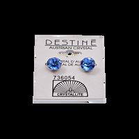 Destine Sapphire Diamond Cut Earrings 8mm
