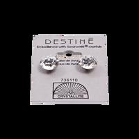 Destine Clear Diamond Cut Earrings 10mm