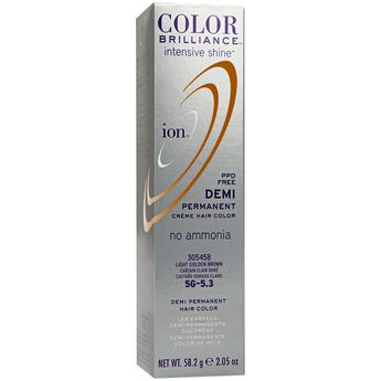 5G Light Golden Brown Demi Permanent Creme Hair Color