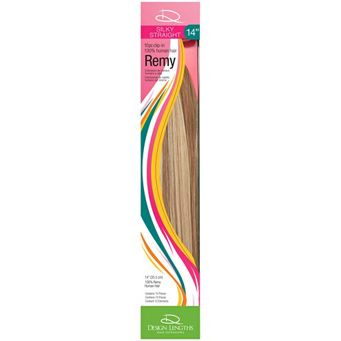 design lengths remy straight 14 inch clip in human hair