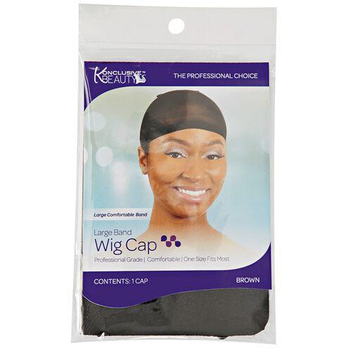 Brown Large Band Wig Cap