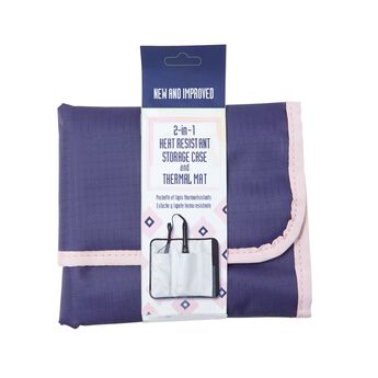 Heat Resistant Storage Case and Thermal Mat Navy
