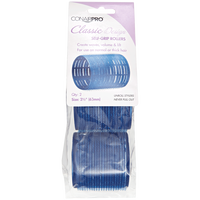 Royal Blue 2-1/2 Inch Classic Style Self Grip Rollers 2 Pack