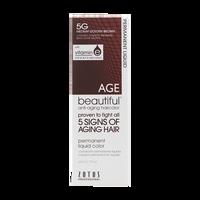 Anti-Aging 5G Medium Golden Brown Permanent Liquid Hair Color