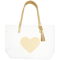 White Gold Heart Bag