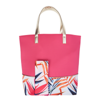 Tropical Tote with Floral Bottom
