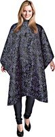 Black Damask Print Styling Cape