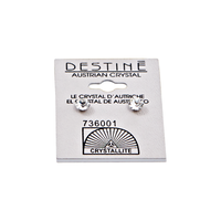 Destine Clear Diamond Cut Earrings 5mm