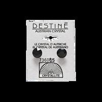 Destine Jet Diamond Cut Earrings 8mm