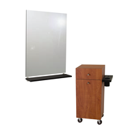 G06 Montego Mobile Styling Vanity with Mirror Wild Cherry