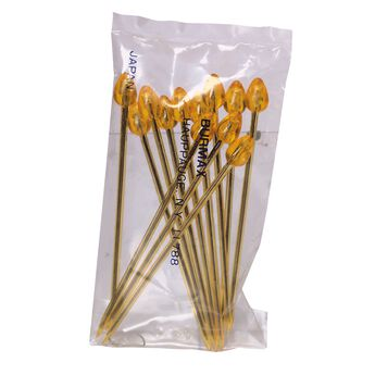 Yellow Steel-Centered Roller Picks