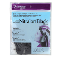 Nitralon Black Medium Nitrile Gloves