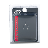 Stainless Steel 1mm Crystal Nose Bone 3 Pack