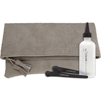 Embossed Beauty Majestic Gray Holiday Clutch