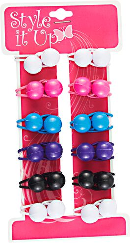 Small Twin Beads Ponytailers