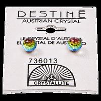 Destine Vitrail Medium 6mm Faceted Ball Earring