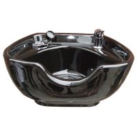 Porcelain Shampoo Bowl Black