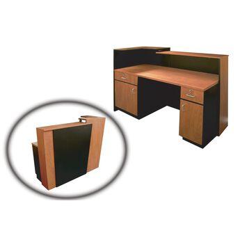 5004 Reception Desk Cherry With Black Trim