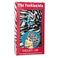 Fashionista Sassy Stripes Shower Cap