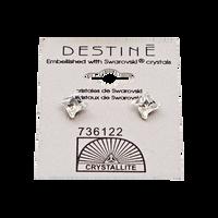 Destine Clear Pinwheel Earrings