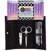 5 Piece Pink Iridescent Manicure Kit