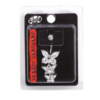 Crystal Butterfly 14G Navel Dangle