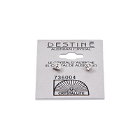 Destine Clear Faceted Square Earrings 4mm