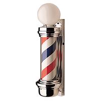 Barber Pole With Globe Light