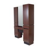 471.63 Reve Brighton Walnut Back-to-Back Tower Styling Station