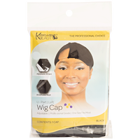 U Part Left Black Wig Cap