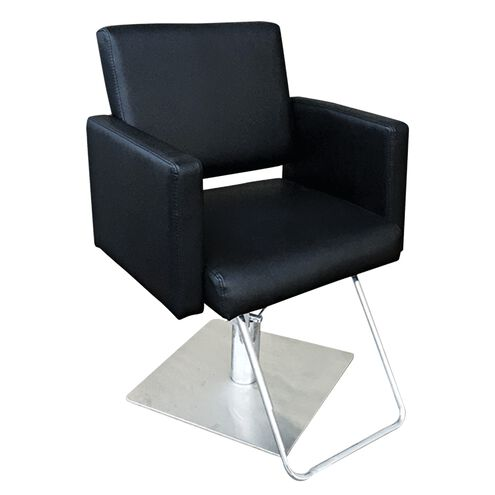 Piper styling chair with square base black for Colored salon chairs