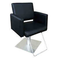 Piper Styling Chair with Square Base Black