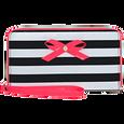 Black and White Stripe Wristlet Wallet