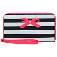 Black & White Stripe Wristlet Wallet