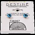 Destine Blue Zicon Diamond Cut Earrings