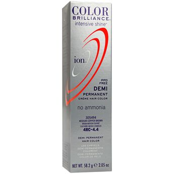 Intensive Shine 4RC Medium Copper Brown Demi Permanent Creme Hair Color