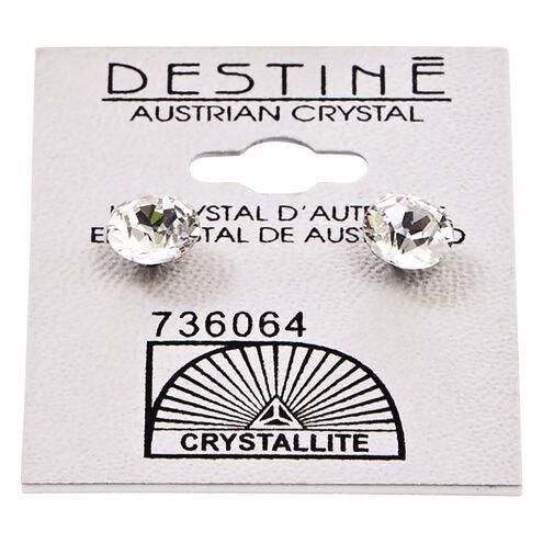 Destine Austrian Crystal Diamond Cut Post Earrings