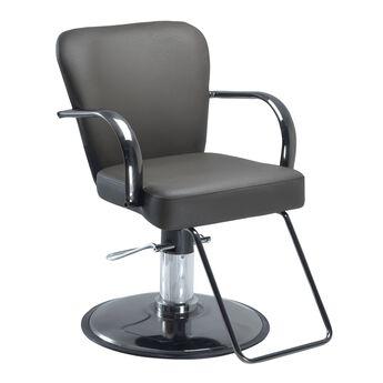 Chromium Cr24-00 Styling Chair on Black Chrome Round Base Brown