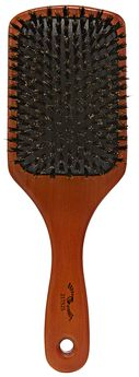 Hardwood Boar Bristle Cushion Paddle Brush
